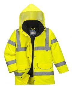 Hi Vis Ladies Traffic Jacket Yellow Size XL