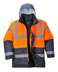 Hi-Vis Coat, Orange/Navy Size 4XL