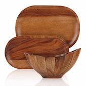 Acacia Plates & Bowls
